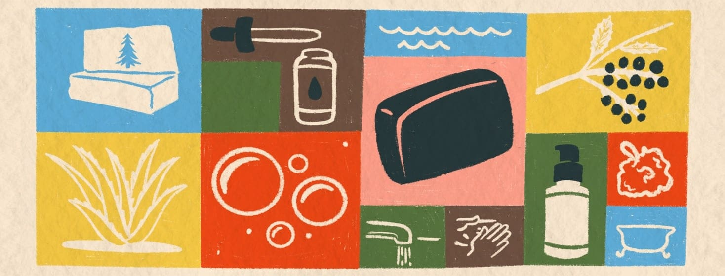 A collaged illustration of the varied alternative treatments depicted in the article.