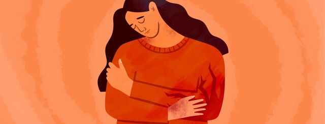 Woman clutching arm in pain from psoriasis in her elbow, arthritis, joint pain, adult, female