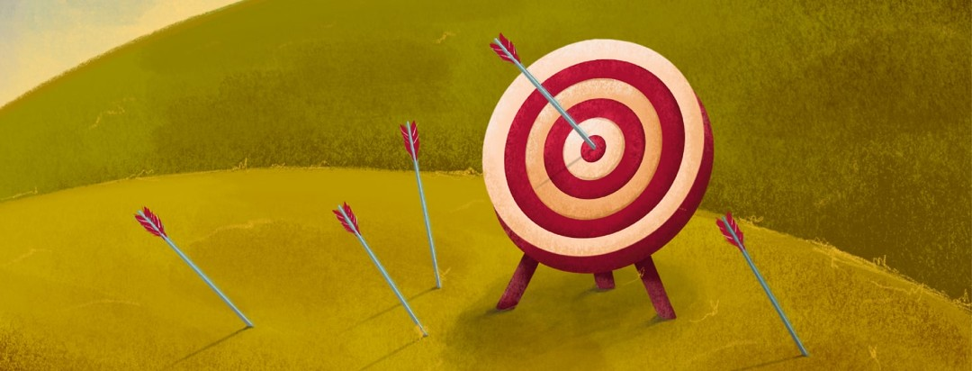 a target with arrows that missed around it